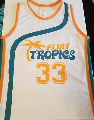 8e46ef27ef69 JACKIE MOON JERSEY White 33 Flint Tropics Size Mens Medium Semi Pro ...