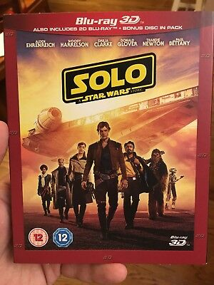 SOLO: A STAR WARS STORY 3D / 2D Blu-ray SHIPS FROM US SELLER With Slipcover