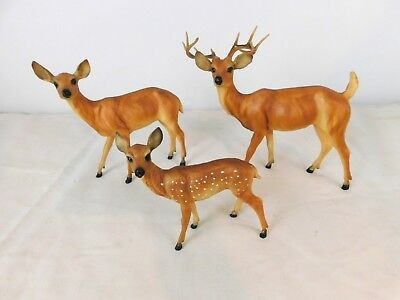 Breyer Deer Family Buck Doe & Spotted Fawn
