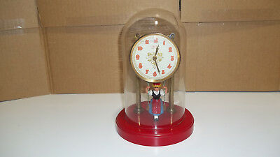 Swinging Girl Clock With Glass Dome
