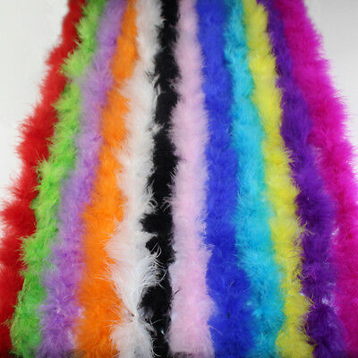 2M Fluffy Feather Boa Strip Clothing Accessories Party Craft Costume Props Decor