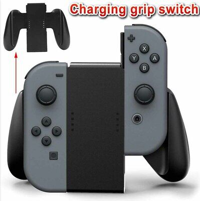 1x Comfort Grip Handle Bracket Charger Charging Holder For Nintendo Switch Black