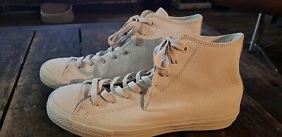 5c7a2133f5a Converse Chuck Taylor All Star II Leather Grey White Mens SZ 11 Sneakers  155763C