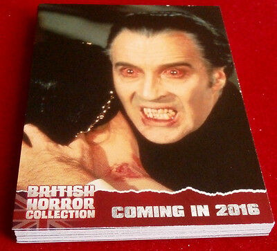 BRITISH HORROR COLLECTION - FULL 18 CARD PREVIEW SET - Christopher Lee
