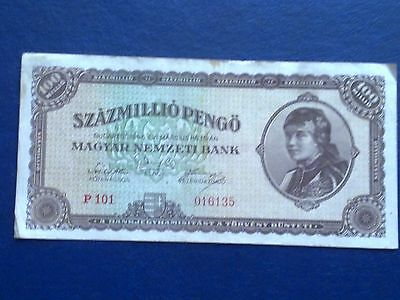 Hungary 100 Million Pengo 1946 - Very Fine(3)