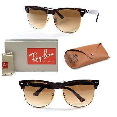 c44a8cafe2 Ray-Ban Clubmaster Sunglasses RB4175 878 Gradient brown Lens Tortoise Gold  Frame