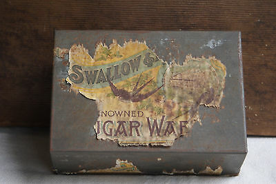 Vintage SWALLOW & ARIELL Waffers Biscuit TIN Australia Melbourne Advertising