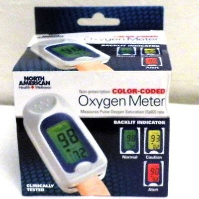 North American Health & Wellness - Color Coded Pulse/OXYGEN METER