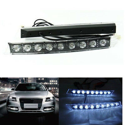 Euro 8 LED Daytime Running Light DRL Fog Lamp Daylight Kit Day Time Lights C00