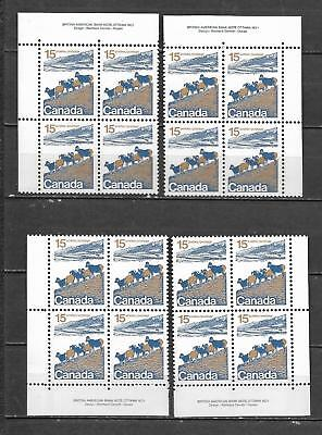 pk40838:Stamps-Canada #595 Mountain Sheep 15 ct Plate 1 Block Set-MNH