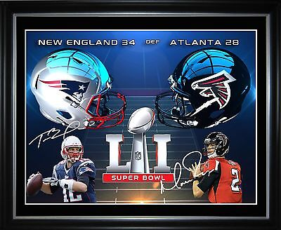 Tom Brady v Matt Ryan Limited Edition Framed Memorabilia