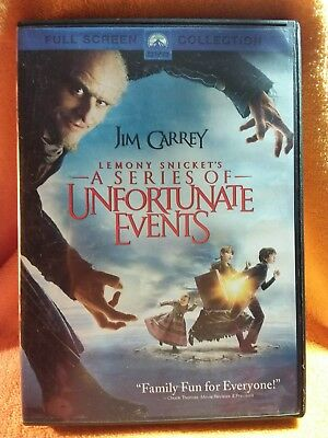 Lemony Snicket's A Series Of Unfortunate Events Full Screen Dvd   @jim Carrey