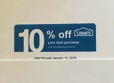 25: Lowe's Blue Card 10% Off For Home Depot + Other Comp Not Lowe's Exp 06/15/19
