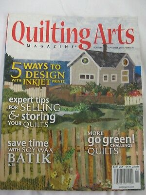 Quilting Arts Magazine #35 Soy Batik Collage Journal Textile Paper Book Fabric