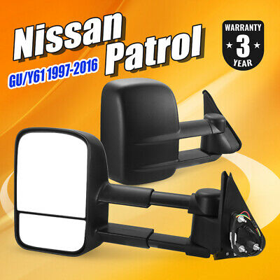 Extendable Towing Mirrors For NISSAN PATROL GU Y60/Y61/Y62 1997- current Pair