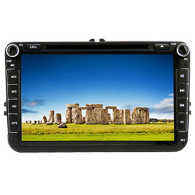 "UK 8"" Car DVD Player Stereo BT GPS For VW PASSAT GOLF MK6 Tiguan Jetta Caddy EOS"