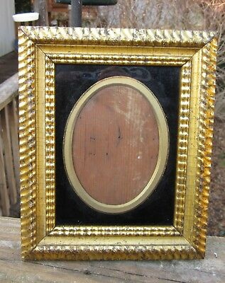 c1850 Outstanding AMERICAN GILDED DUTCH RIPPLE Full Plate AMBROTYPE TINTYPE Frme