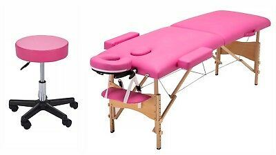 Pink Portable Eyelash Extension Table Bed & Chair Kit w/Carrying case