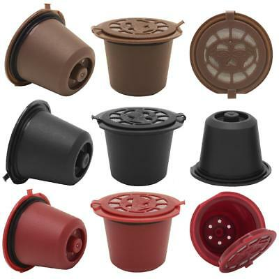 Refillable Reusable Coffee Capsule Pod Repeatable Plastic Shell Filter Cup 3Pcs