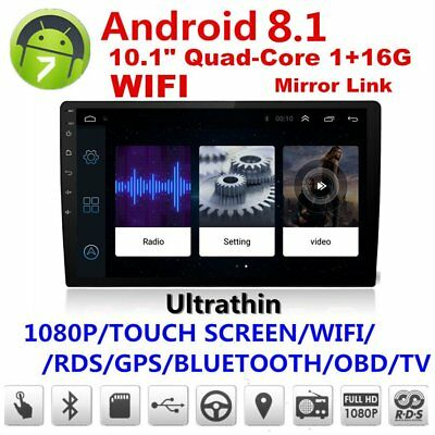 10.1in Android 8.1 Bluetooth Car GPS Navigator Stereo Radio Double 2 DIN MP5!
