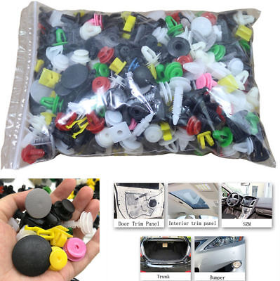 400PC Mixed Car Bumper Clips Retainer Fastener SUV Rivet Door Panel Fender Line!