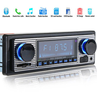 Car Radio Bluetooth Hands-free Vintage MP3 Player USB AUX Classic Car Stereo!