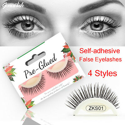 3D No Glue False Eyelashes Self Adhesive Makeup Fake Lashes Extension Reusable