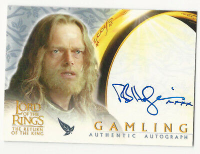 Bruce Hopkins as Gamling 2002 Topps Lord of the Rings LOTR Autograph Auto Card
