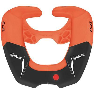 Atlas Kids Mx Motocross Broll Brace Mens Body Armour Neck - Pumpkin One Size