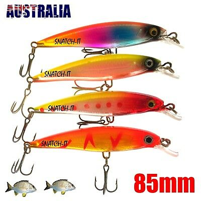 4 Redfin & Bream Freshwater Fishing Lures, Flathead, Bass, Perch, Trout,Cod