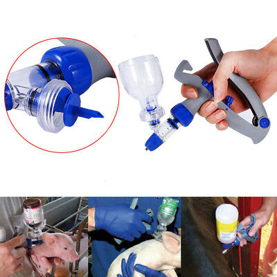 5ml Adjustable Continuous Injector Animal Syringe Veterinary Tool Reusable New