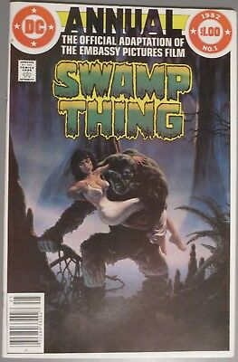Swamp Thing Annual 1, VF/NM, 1982, official movie adaptation, great condition