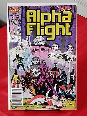 Alpha Flight 33 1St App Of Lady Deathstrike  Yuriko Oyama  Newstand Edition