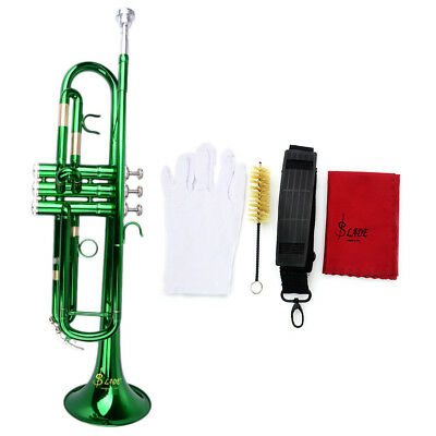 Trumpet bb or Concert Trumpet new Silver pro Brass Band Trumpets Green U7T5