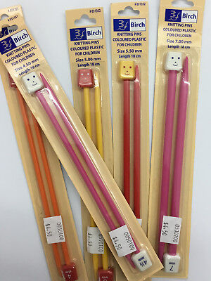 Childrens knitting needles 18cm - very short- great for scarves