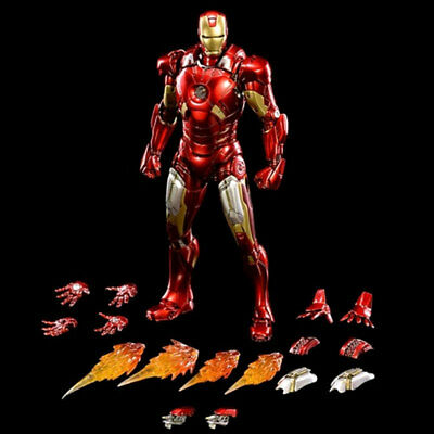Comicave 1/12 IRON MAN MK7 Metal Alloy Luminous Model 6'' Collection Figure New
