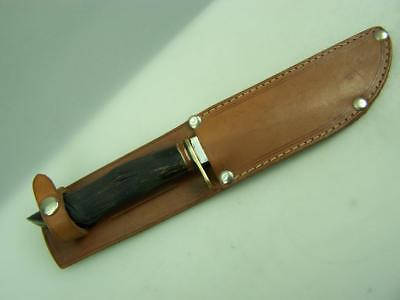 Vintage J.Nowill & Sons Sheffield made fixed blade knife in leather sheath