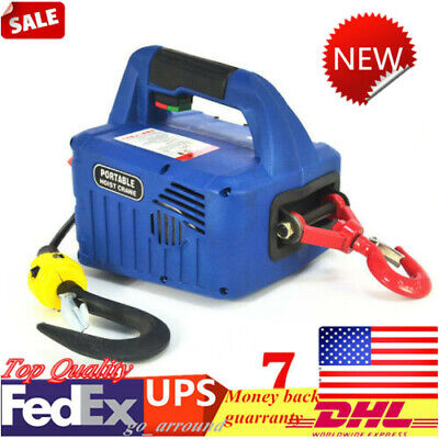 With Wireless Remote 110V 500 KG X 7.6 M Portable Household Electric hoist Winch