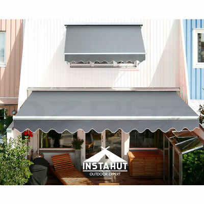 BargaIn Awning Folding Arm Outdoor 3M X 2.5M Pearl grey Instahut Brand New InBox