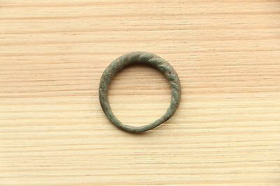 Typical Viking Bronze Twisted Ring 8-9 AD