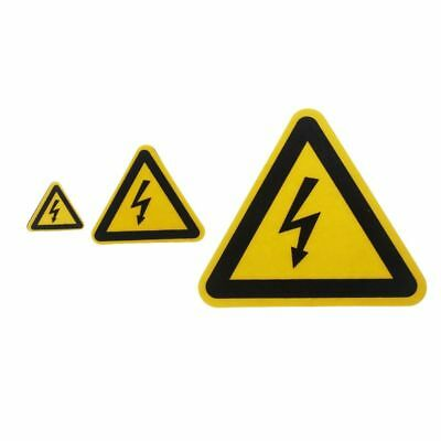 Warning Sticker Adhesive Labels Electrical Shock Hazard Notice Safety Waterproof
