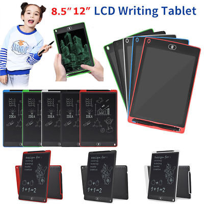 """12""""8.5""""LCD Writing Pad Kids Painting Drawing Tablet Message Doodle eWriter Board"""