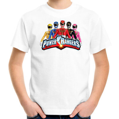 Power Rangers Kids T-Shirt, Children Retro TV Show Tee Size 2-16