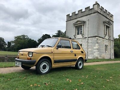 Classic Fiat 126 De-Ville RHD, 1980 exceptional condition, only 25k miles / barn