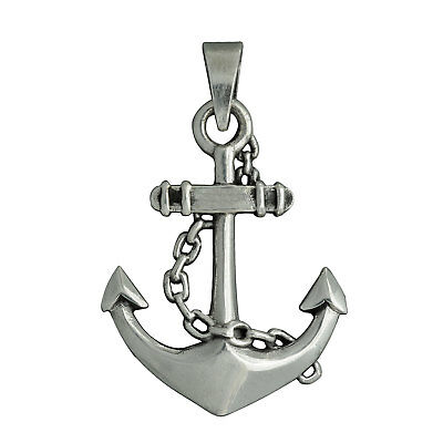 Anchor Nautical and Rope Ship Pendant 925 Sterling Silver 6 g BELDIAMO