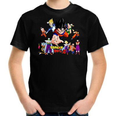 Dragon Ball Z All Stars Kids T-Shirt, Children Retro Cartoon Comic Tee Size 2-16