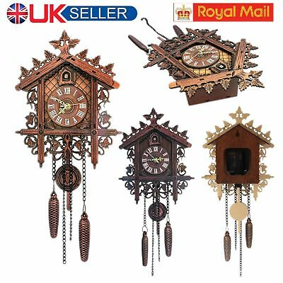 Vintage Handmade Cuckoo Clock Forest Quartz Swing Wall Alarm Art Home Decor Gift