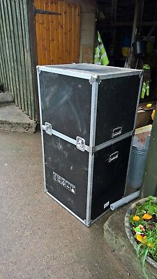 Packing Transport Crate, Box, Hard Shell, Metal Corners, Handles, Airline, Bands