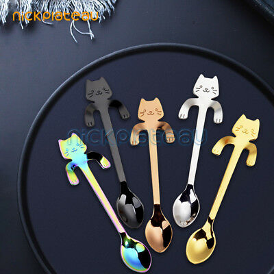 Cartoon Cute Cat coffee spoon stainless steel guitar spoon coffee and teaspoon
