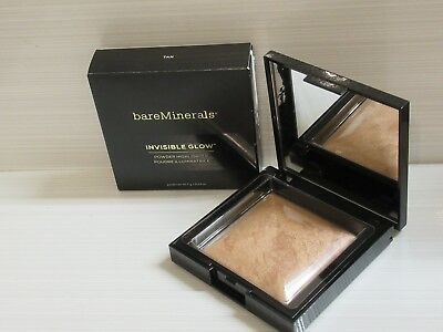 Bare Minerals Invisible Glow Powder Highlighter Tan 0.24 Oz. Boxed